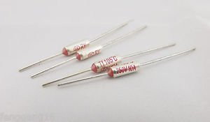 10Pcs Microtemp Thermal Fuse 105°C 105 Degree TF Cutoff Cut-off 10A AC 250V New