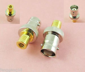 BNC Female Jack to SMB Female Jack Straight Rf Coax Coaxial Connector Adapter