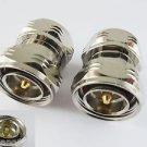 L29 7/16 DIN Male Plug to L29 Male Series Straight RF Coaxial Adapter Connector
