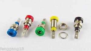 5x Multimeter Instrument 2mm Binding Post Banana Socket Panel Mount Test Probe