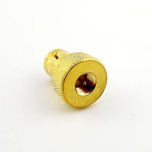 Gold BNC Female Jack to SMA Male Plug Straight Radio Antenna Connector Adapter