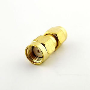1x RP-SMA Male Jack to RP-SMA Male Both Female Pin Straight RF Connector Adapter
