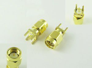 SMA Male Plug Straight Solder F PCB PC Board Mount Coaxial RF Connector Adapter