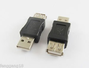 10x USB 2.0 A Male Plug To USB Female Adapter Converter Connector Gender Changer