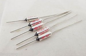 5pcs Microtemp Thermal Fuse 250°C 250 Degree TF Cutoff Cut-off 10A AC 250V New