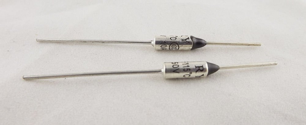 1Pcs Microtemp Thermal Fuse 115°C 115 Degree TF Cutoff Cut-off 10A AC 250V New