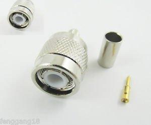1pcs TNC Male Plug Straight Crimp For RG58 RG142 RG400 RG223 LMR195 RF Connector