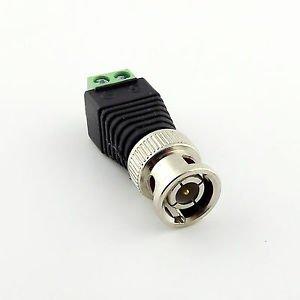 New Coax CAT5 To CCTV Coaxial Camera BNC Male Plug Video Balun Connector