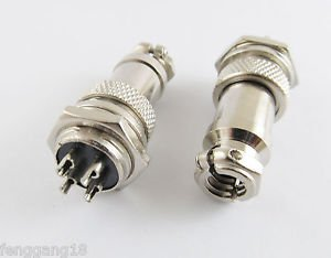 10pcs XLR 4 Pins 16mm Audio Cable Connector Chassis Mount 4 Pin Plug Adapter