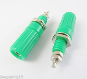 1pcs Binding Post Speaker Cable Amplifier 4mm Banana Plug Jack Connector Green