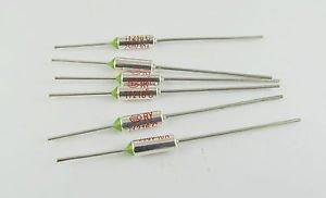 100Pcs Microtemp Thermal Fuse 216°C 216 Degree TF Cutoff Cut-off 10A AC 250V