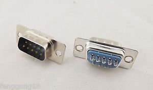 10pcs D-SUB DB9 9 Pin Male PCB RS232 Serial Solder Type Connector Socket PC Use