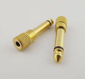 "10x Gold 6.35mm 1/4"" Male Plug Mono to 3.5mm 1/8"" Female Audio Adapter Converter"