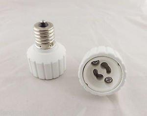 10x E17 To GU10 Socket Base LED Halogen Light Bulb Lamp Adapter Converter Holder