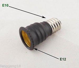 E10 To US E12 Candelabra Base Socket LED Light Bulb Lamp Adapter Converter New