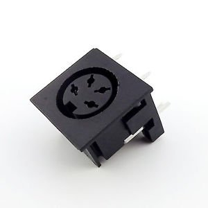 10pcs DIN 4 Pin Circular Jack Female Panel Mount PCB Mount Connector Adapter