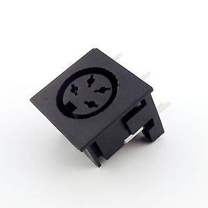 5pcs DIN 4 Pin Circular Jack Female Panel Mount PCB Mount Connector Adapter