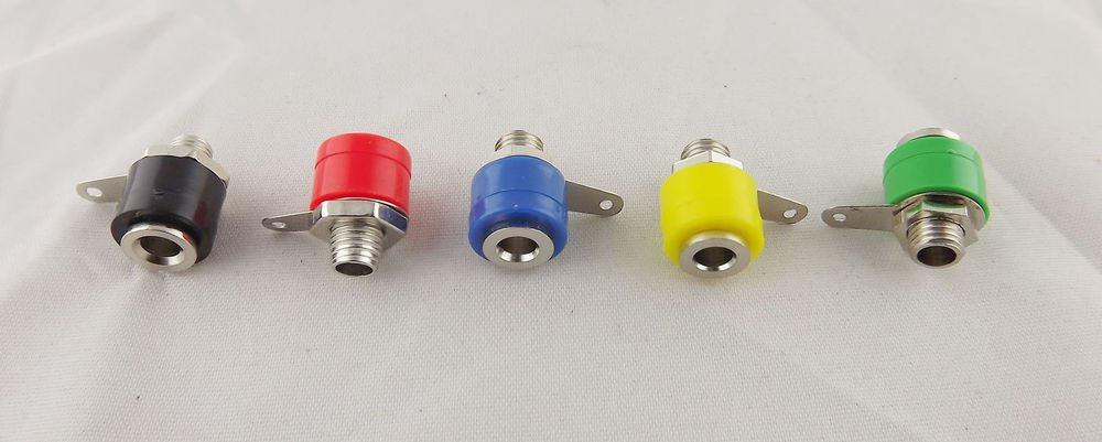 50 4mm Amplifier Terminal Binding Post Banana Jack Panel Mount Connector 5 Color