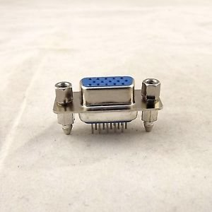 D-SUB DB15 DP15 15Pin Female DIP PCB Solder Connector Adapter 3 Rows Lock Screw