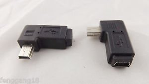 10pcs USB 2.0 Mini 5 Pin Male To Mini 5 Pin Female Right Angle Adapter Connector