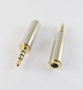 "10x 2.5mm Male Plug to 3.5mm 1/8"" Female Jack Audio Video Plug Adapter Converter"