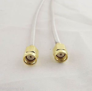 10 RP-SMA Male To RP-SMA Male Both Female Pin Jumper Pigtail RF RG402 Cable 12in