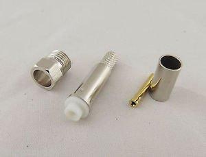 10pcs FME Female Jack Straight Crimp RG58 RG142 RG400 LMR195 Cable RF Connector