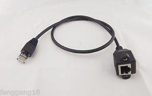 10 1m RJ45 Cat5e M/F Shielded Ethernet Network Screw Panel Mount Extension Cable
