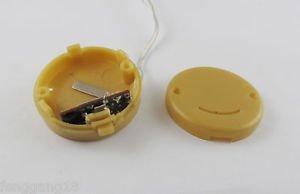 Yellow CR2032 X2 Button Battery Holder Case Box Smile Flicker Flash String Light