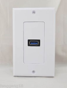 1x USB 3.0 Plug Outlet 1-Port Electric Socket Power Supply Wall Plate Face Panel