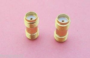 100x SMA Female Jack to SMA Female Jack Straight Adapter RF Coax Connector SH