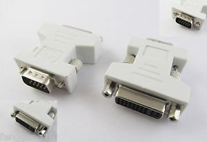 DVI-I 24+5 Female To VGA HD15 Pin Male Adapter Connector Converter HDTV PC Video