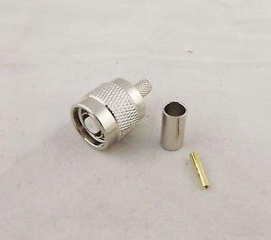 10pcs RP-TNC Male Jack Straight Crimp RG58 RG142 LMR195 RG400 Cable RF Connector
