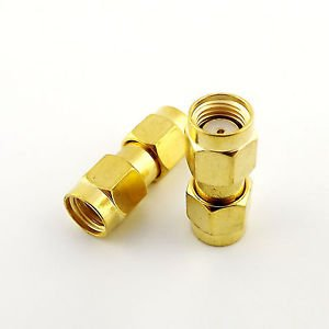 10pcs RP-SMA Male Jack to RP-SMA Male Female Pin Straight RF Connector Adapter
