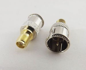 Quick F Male Push-on Straight To SMA Female Jack Center TV RF Adapter Connector