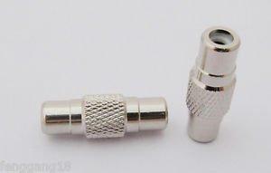 10x RCA Female to RCA Female Straight Audio AV Coupler Adapter Connector Nickel