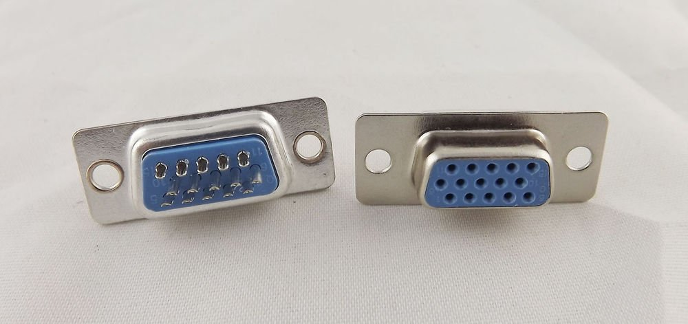 100pcs VGA Female Socket DB15 15-Pin D-SUB 3 Rows Solder Type Connector Adapter