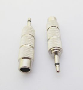 10pcs 3.5mm Male Plug Mono to 6.35mm Female Metal Audio Adapter Converter Nickel