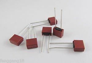 100pcs T0.8A T800mA 0.8A Square Miniature Micro Fuse Slow Blow Fuse 250V
