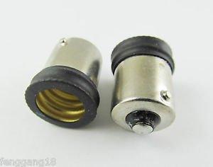 10pcs BA15S To European E14 Candelabra Base Socket LED Light Bulb Lamp Adapter