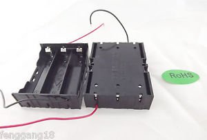 10x Hold Three 3 Li-ion 18650 Battery Holder Case Series 11.1V With 2 Leads Wire
