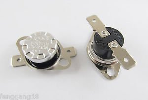 10pcs Temperature Controlled Switch Thermostat 45°C N.C. KSD301 Normal Close