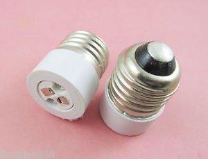 2X E27 to MR16 Socket LED Halogen CFL Light Bulb Lamp Adapter Converter Holder
