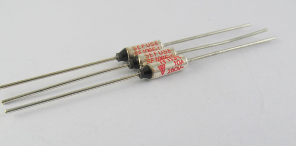 10Pcs Microtemp Thermal Fuse 113°C 113 Degree TF Cutoff SF109E 10A AC 250V New