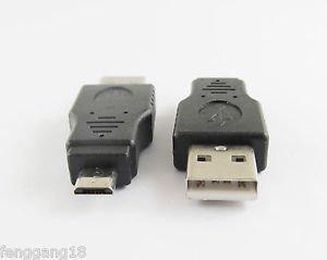 10pcs USB 2.0 A Male Plug To Micro-B USB 5 Pin Data Adapter Converter Connector