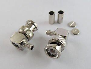 10x BNC Male Right Angle Crimp RG142 LMR195 RG58 RG400 LMR200 Cable RF Connector