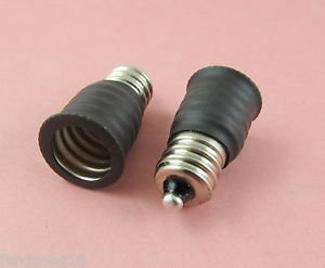 100pcs US E12 To European E14 Candelabra Base Socket LED Light Bulb Lamp Adapter