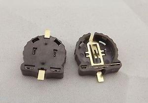 100pcs Battery 3V Button Cell Holder Socket Clip Case SMD Mount Portable CR1220