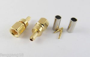 50 SMC Female Jack Straight Crimp For RG174 RG179 RG316 RG188 Cable RF Connector