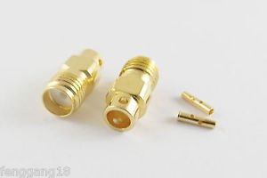 "100pcs SMA Female Jack Solder for Semi-rigid RG402 0.141"" Cable RF Connector"